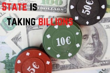 STATE TAKES BILLIONS FROM GAMBLING
